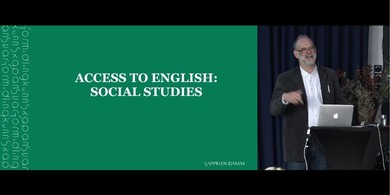 Richard Burgess presenterer Access to English: Social Studies
