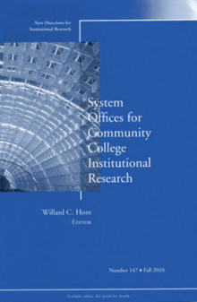 System Offices for Community College Institutional Research av IR (Institutional Research) (Heftet)