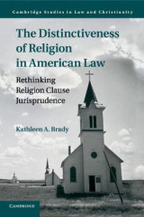 Omslag - The Distinctiveness of Religion in American Law