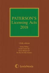 Omslag - Paterson's Licensing Acts 2018