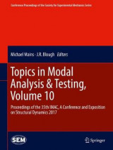 Omslag - Topics in Modal Analysis & Testing: Volume 10