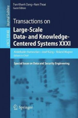 Omslag - Transactions on Large-Scale Data- and Knowledge-Centered Systems XXXI